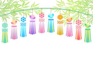 七夕祭りの飾りのイラストのイラスト素材 [FYI04841766]