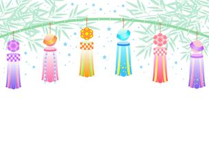 七夕祭りの飾りのイラストのイラスト素材 [FYI04841769]