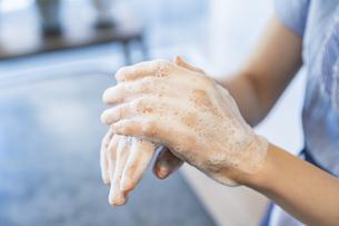 手を洗う女性の写真素材 [FYI04842536]