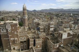 イエメンの首都サナア旧市街の写真素材 [FYI04842605]