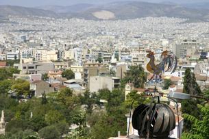 風見鶏とギリシャの首都アテネの写真素材 [FYI04842617]
