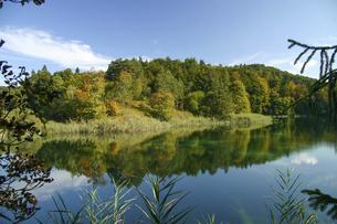 クロアチアの世界遺産プリトヴィツェ湖群国立公園の美しい景色の写真素材 [FYI04842627]