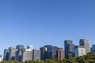 東京の中心・丸の内の高層オフィスビル群の写真素材 [FYI04842635]