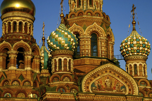 <世界遺産>ロシア・サンクトペテルブルクの血の上の救世主教会の写真素材 [FYI04842637]
