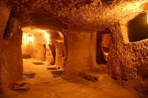 カイマクル地下都市 in トルコの写真素材 [FYI04842668]