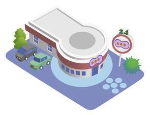 スマートシティを構成する建物のイラスト バリエーション有りのイラスト素材 [FYI04844143]