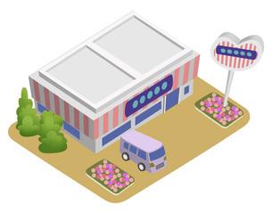 スマートシティを構成する建物のイラスト バリエーション有りのイラスト素材 [FYI04844144]