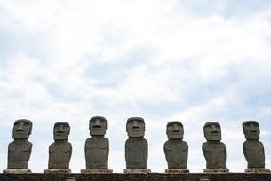 日南市のモアイ像の写真素材 [FYI04844205]