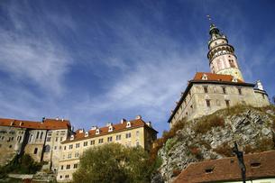 チェコの世界遺産チェスキークルムロフ城の写真素材 [FYI04845604]