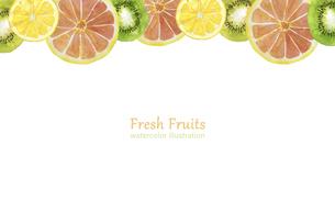 水彩の果物のフレームのイラスト素材 [FYI04846755]