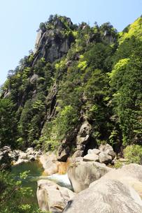 全国観光地百選のひとつ昇仙峡の覚円峰  名水百選の昇仙峡 名水100選の昇仙峡の写真素材 [FYI04846871]