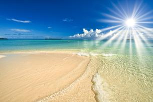 パラオの美しいサンゴ礁の海の写真素材 [FYI04846898]