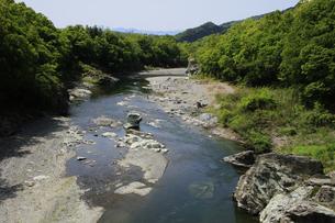 新緑と渓谷の長瀞の写真素材 [FYI04847050]