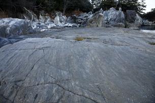 【地学教材】2月三陸海岸の大理石海岸 -古生代大理石の石切り場-の写真素材 [FYI04847083]