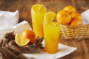 オレンジジュースの写真素材 [FYI04847593]