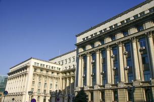 かつて共産党本部だった革命広場のルーマニア内務省の写真素材 [FYI04848237]