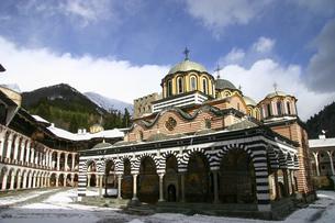 世界遺産ブルガリアのリラ修道院の写真素材 [FYI04848239]
