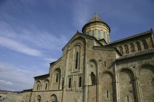 ジョージア(グルジア)のムツヘタにあるスヴェティ・ツホヴェリ大聖堂の写真素材 [FYI04848240]