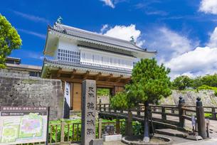 御楼門と鶴丸城跡の写真素材 [FYI04848374]