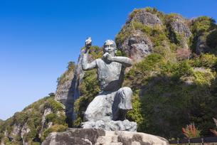 本耶馬渓 禅海和尚の像の写真素材 [FYI04848381]