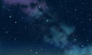 星空と天の川のイラスト素材 [FYI04849013]