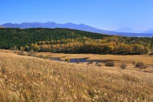霧ヶ峰より富士山と八ヶ岳の写真素材 [FYI04849201]