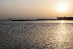 百道浜の朝の風景の写真素材 [FYI04849385]