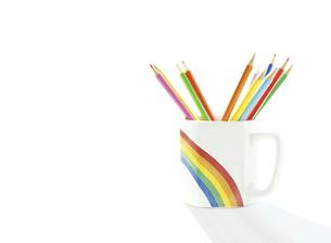マグカップの色鉛筆の写真素材 [FYI04849449]
