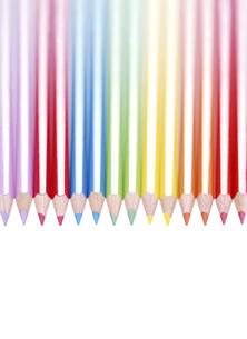 七色の色鉛筆の写真素材 [FYI04849452]