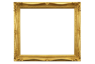 金色の額縁の写真素材 [FYI04850148]
