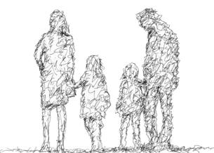 家族のペン画のイラスト素材 [FYI04850159]