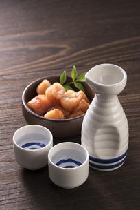 日本酒と辛子明太子の写真素材 [FYI04851212]