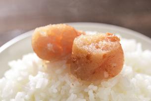 炊きたてのご飯と辛子明太子の写真素材 [FYI04851220]