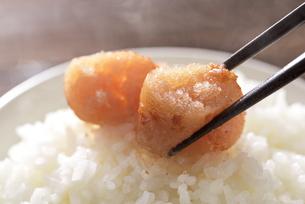 炊きたてのご飯と辛子明太子の写真素材 [FYI04851221]