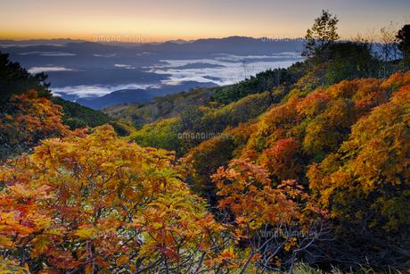 木曽・御嶽山から見る夜明けの写真素材 [FYI04851565]