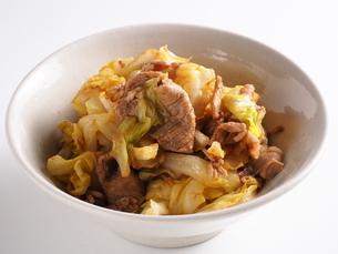 豚肉と春キャベツの中華風炒めの写真素材 [FYI04852110]