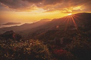 【香川県 小豆島】秋の夕方の寒霞渓の自然風景の写真素材 [FYI04852699]