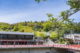 修善寺温泉 修禅寺山門前の風景の写真素材 [FYI04853015]