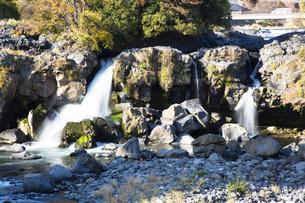 黄瀬川の流れる鮎壺の滝の写真素材 [FYI04853106]