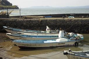 有明海のレトロな漁港の写真素材 [FYI04853347]