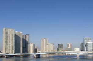 晴海大橋と豊洲のタワーマンション群の写真素材 [FYI04853893]