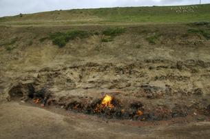 アゼルバイジャンのヤナルダグ(燃える山)の写真素材 [FYI04853900]
