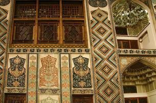 アゼルバイジャンの世界遺産シャキ・ハーン宮殿の外壁の写真素材 [FYI04853905]