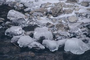 支笏湖の氷の写真素材 [FYI04854017]