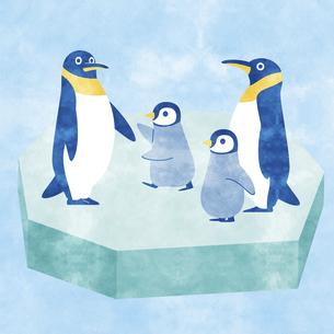 ペンギン家族Aのイラスト素材 [FYI04854288]