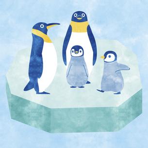 ペンギン家族Bのイラスト素材 [FYI04854289]