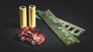 【EV】電気自動車と半導体 テクノロジーの写真素材 [FYI04854711]