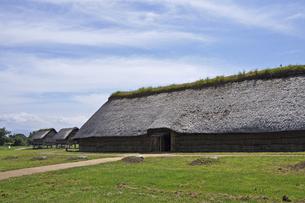 三内丸山遺跡 大型竪穴式住居の写真素材 [FYI04854970]