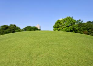 新緑の草原の丘の写真素材 [FYI04855445]
