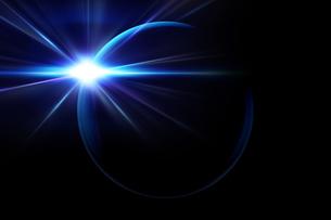 美しい光と暗い地球のグラフィックイメージなアブストラクトのイラスト素材 [FYI04855761]